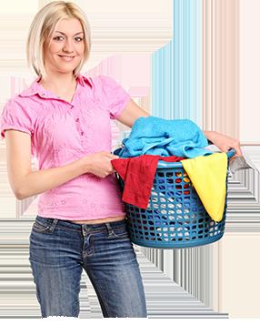 Washing service woman